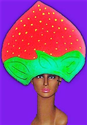 gorros de gomaespuma fresa