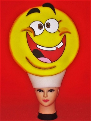 gorros de gomaespuma emoticono