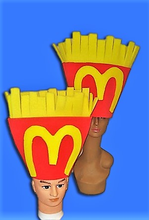 gorros de gomaespuma patatas fritas