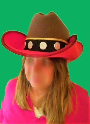gorro de gomaespuma cowboy