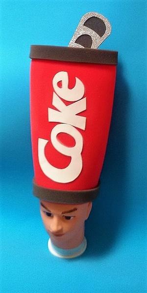 gorros de gomaespuma lata coca cola
