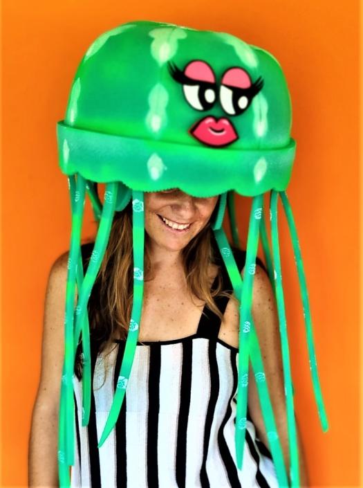 gorros de gomaespuma medusa